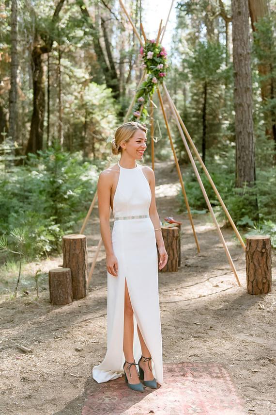 Modern wedding dress