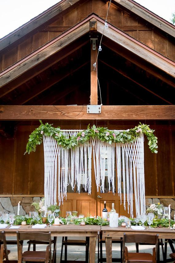 Fringe wedding decor
