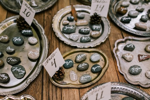 River rock escort cards