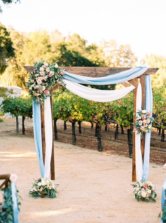 Romantic ceremony arbor