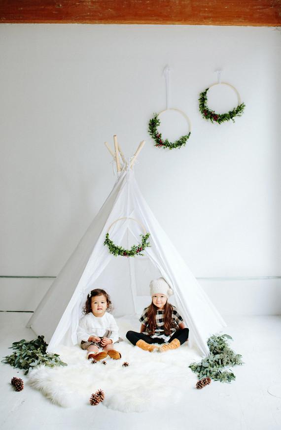 modern styled holiday tepee photos