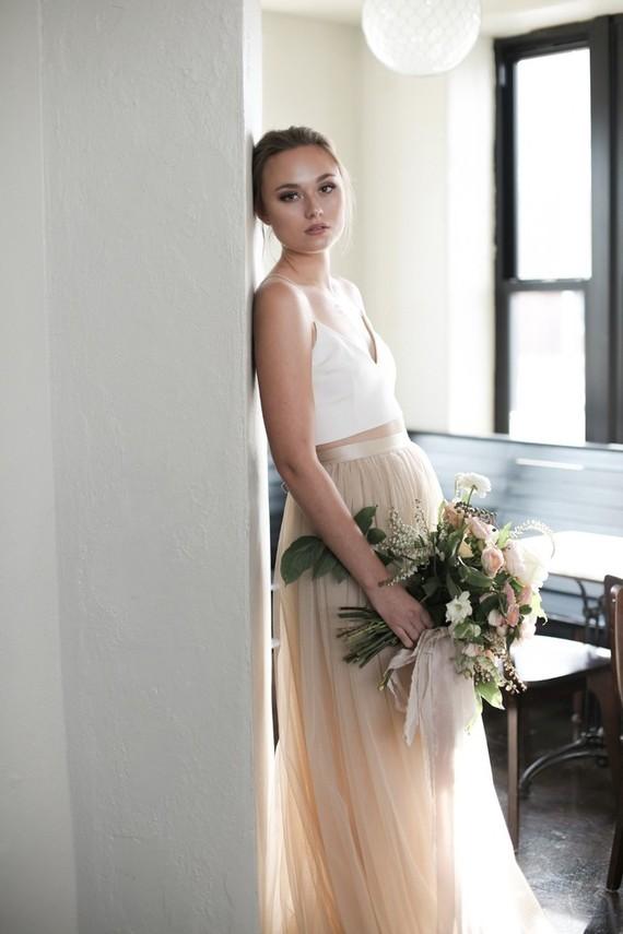 Modern Alexandra Grecco bridal attire