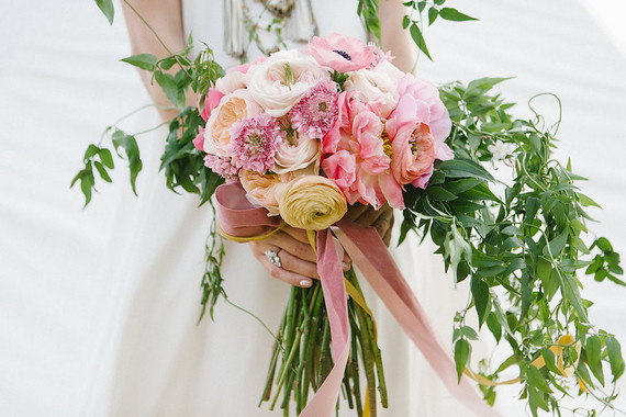 Pink bridal bouquet