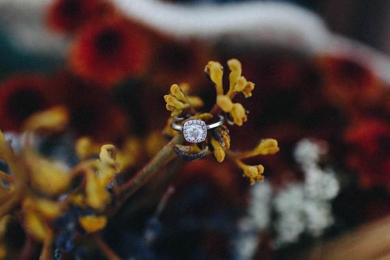 Autumn floral engagement session