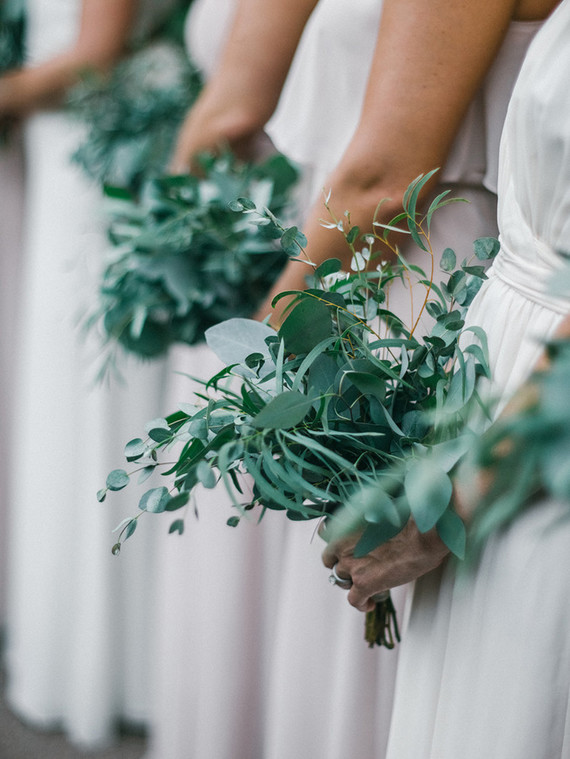 Green bridesmaid bouquet