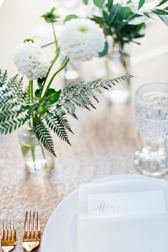 White and gold wedding decor