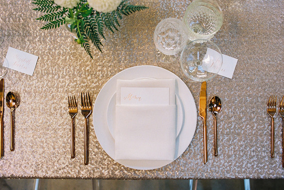 White and gold wedding decor