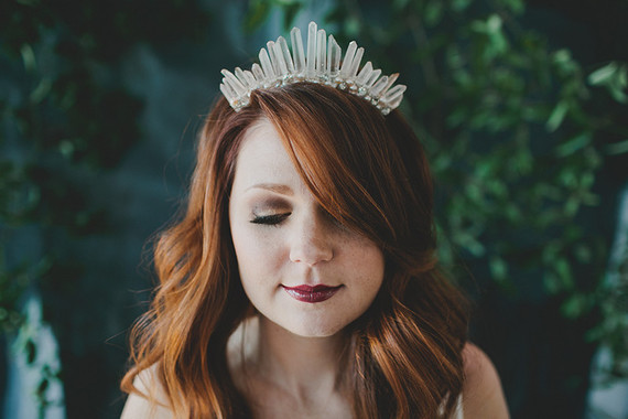 Quartz bridal crown