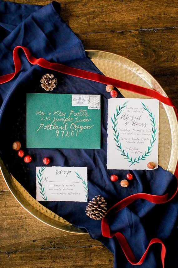 Holiday wedding inspiration