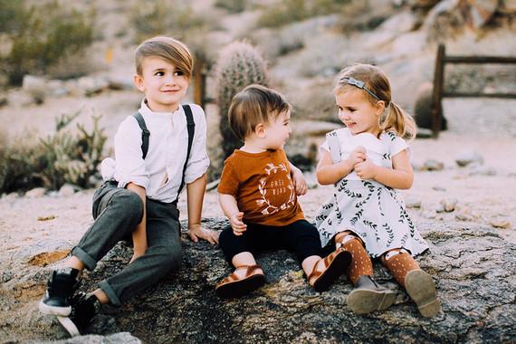 Modern desert family photos