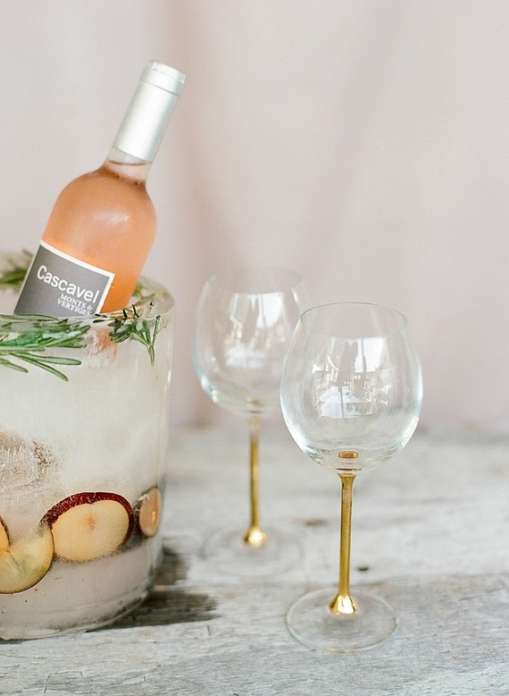Rose wedding cocktails