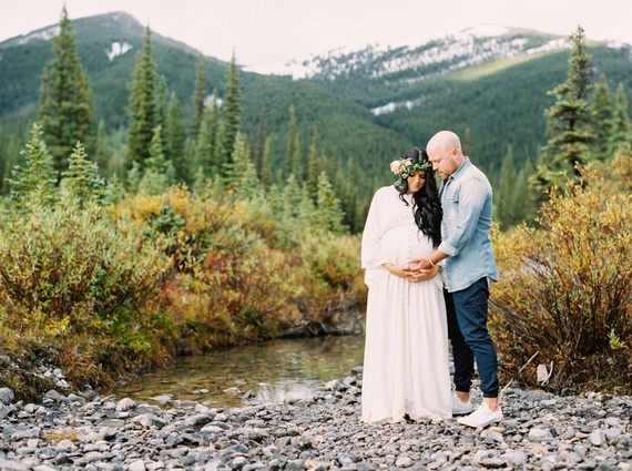 Calgary Mountain maternity photos