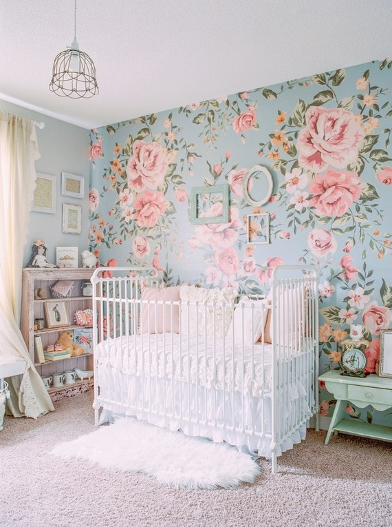 Floral shabby chic nursery : shabby chic nursing chair - Cheerinfomania.Com
