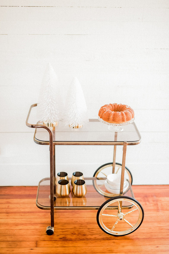 simple holiday bar cart