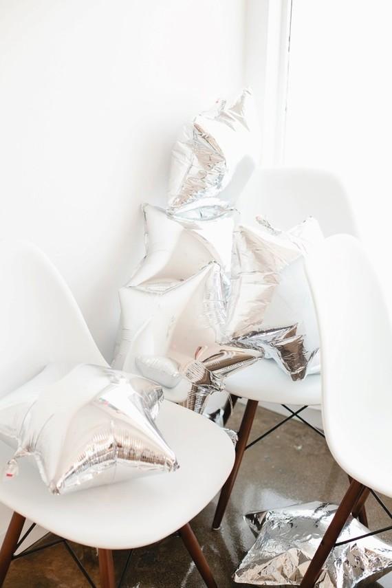 silver star balloons