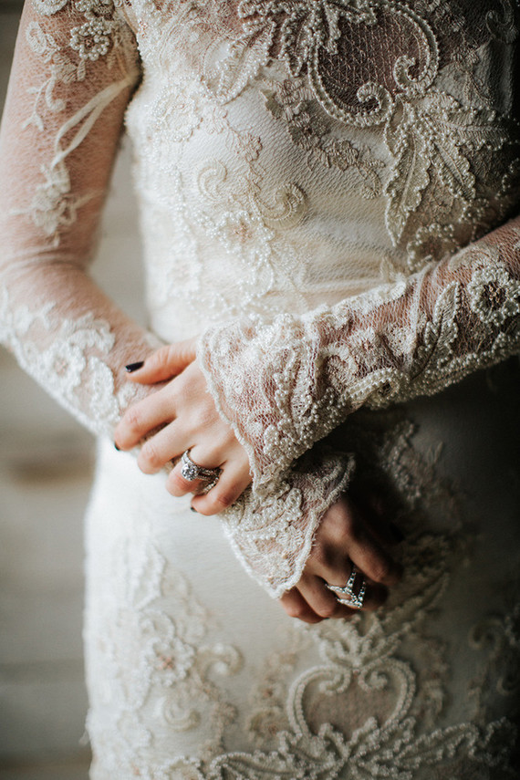 Claire Pettibone wedding gown
