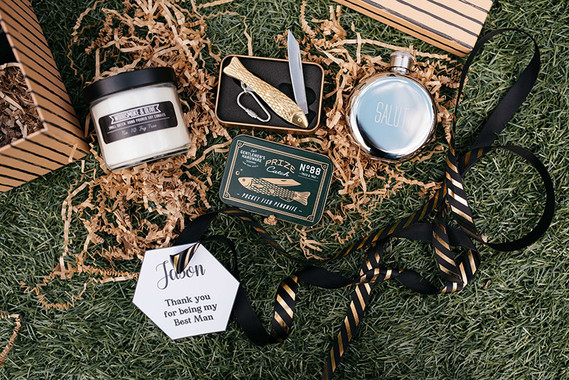Groom wedding favors