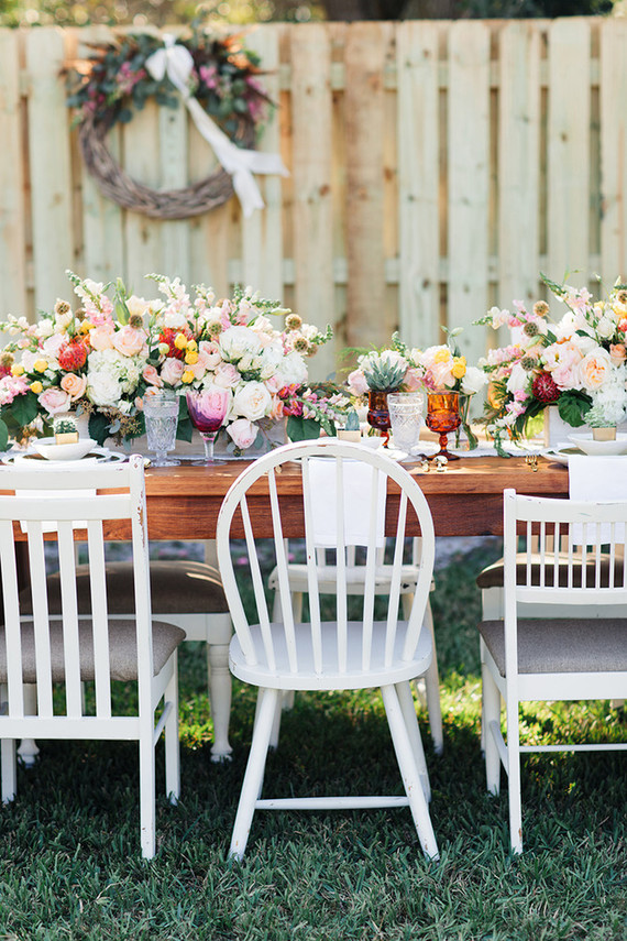 Backyard bridal shower