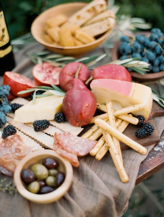 Cheese and meat platter