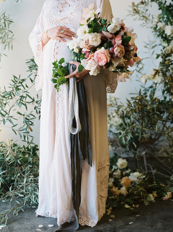 Floral maternity photos
