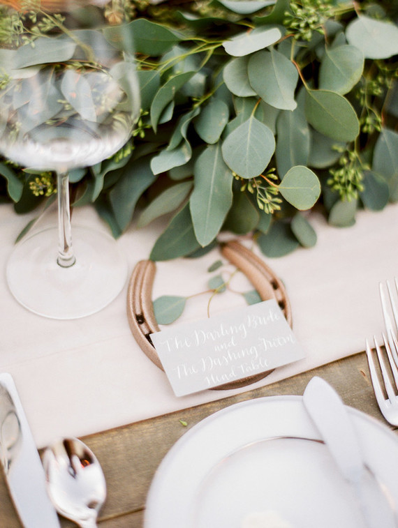 Horseshoe wedding decor