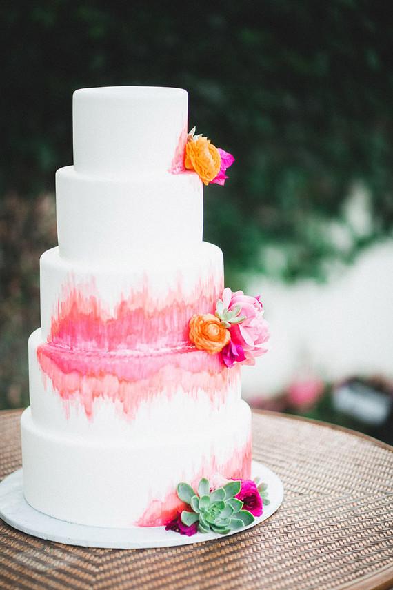 Colorful spring California wedding