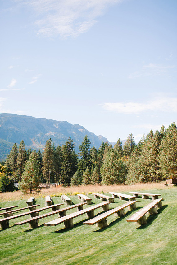 Pacific northwest mountain wedding