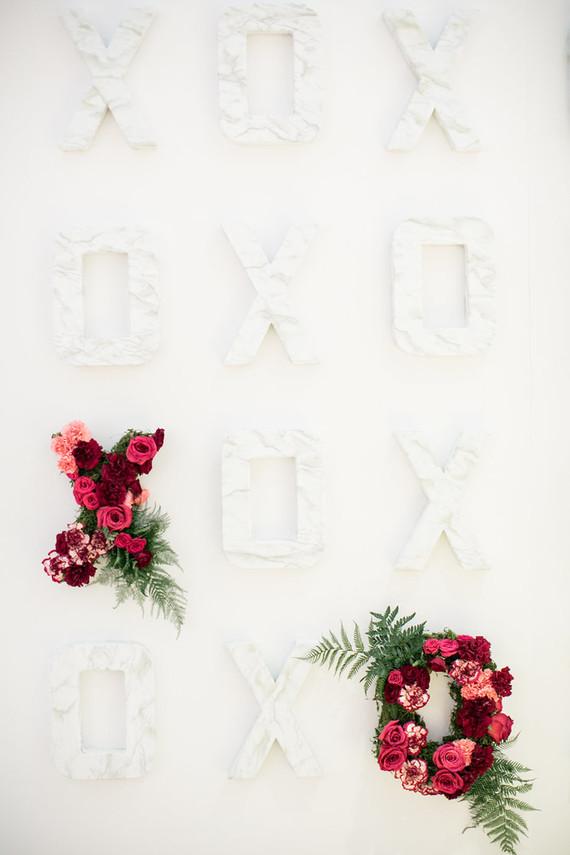 Floral letters
