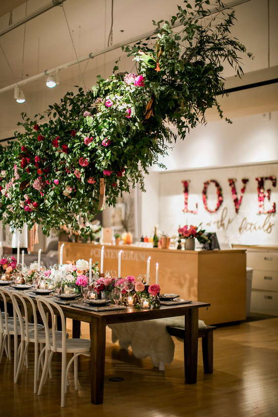 Valentines inspired dinner party