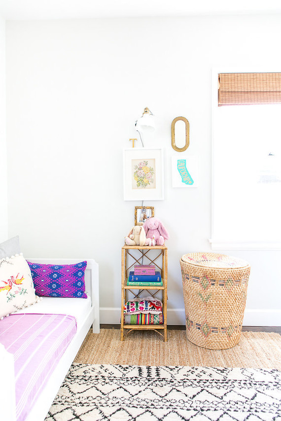 vintage modern beachy girl's room