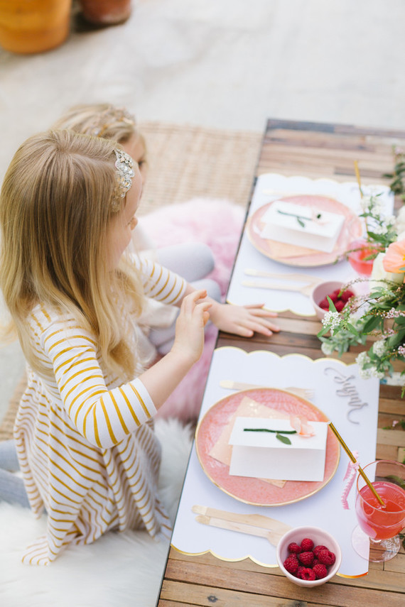 Floral valentine's day brunch for kids