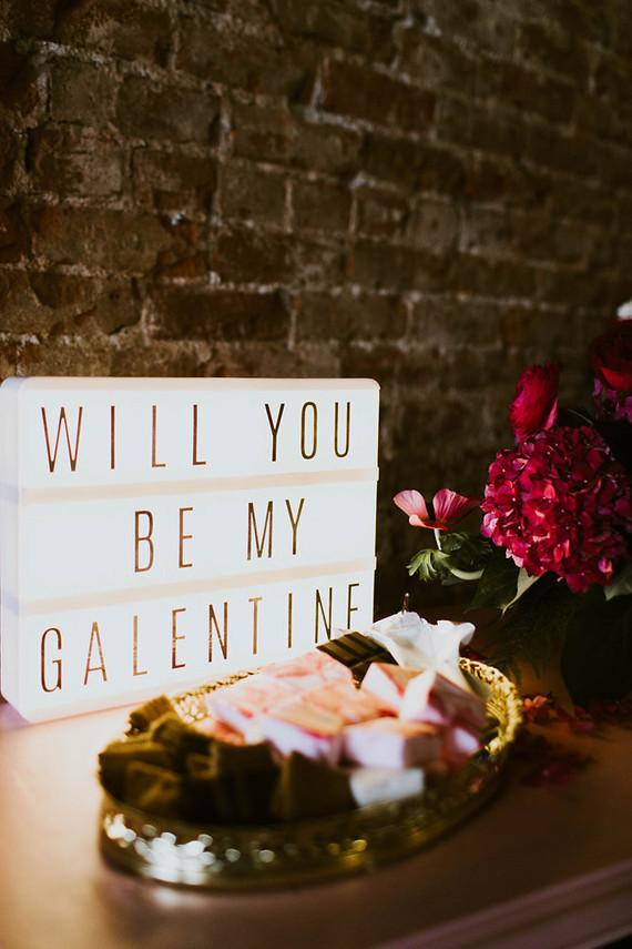 Galentine's Day signage