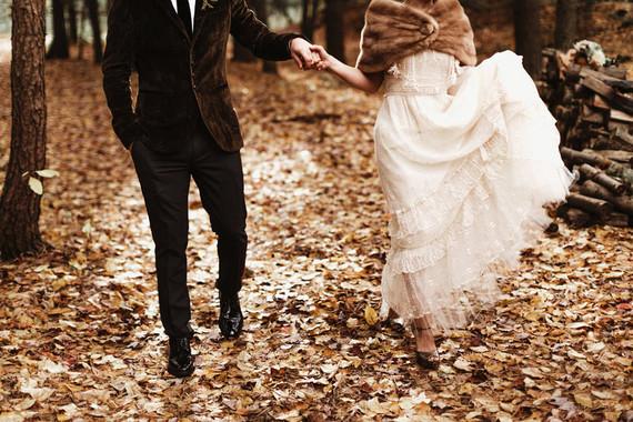 Real Woodland Weddings: Woodland Vintage Wedding: Corinne + Frank