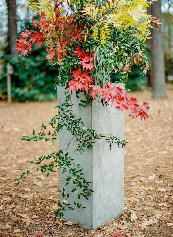 Fall wedding foliage