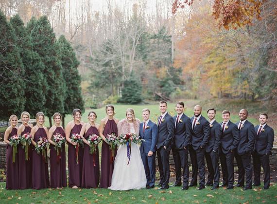 Classic elegant jewel tone wedding