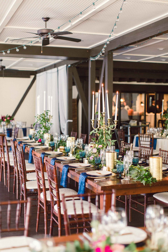 Classic elegant wedding reception