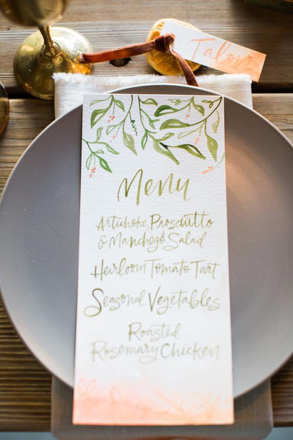 Dip dyed menu