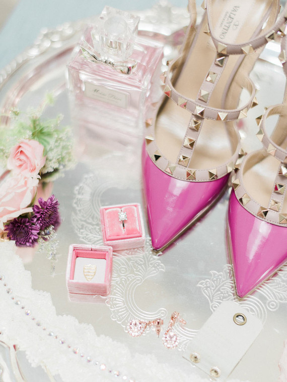 Pink bridal shoes