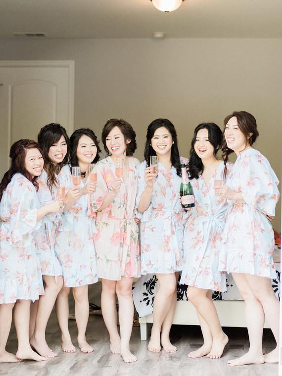 Spring bridal party