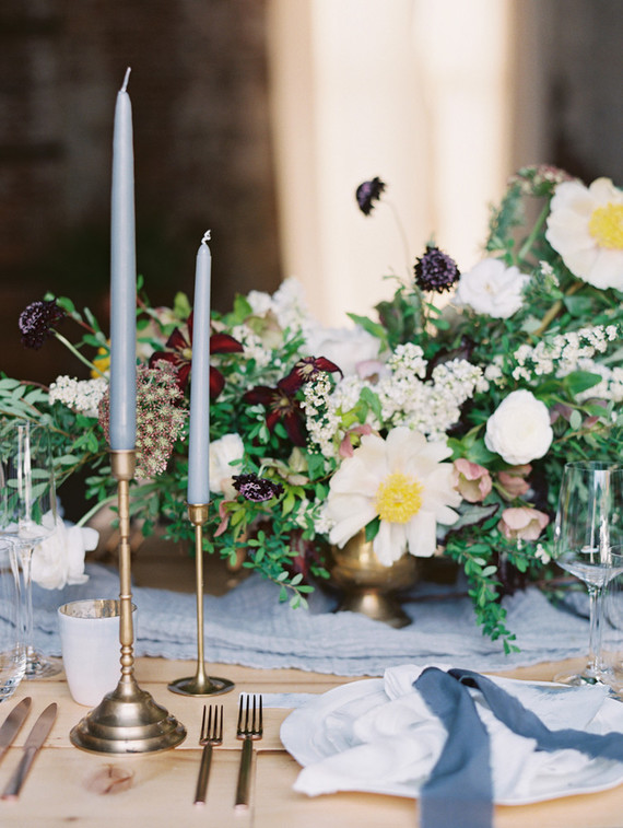 Blue tablescape
