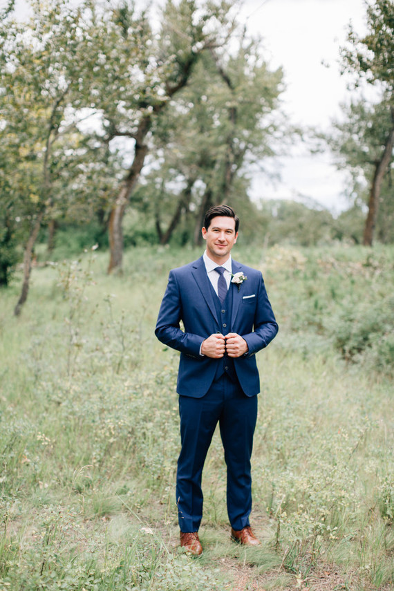 Navy groom