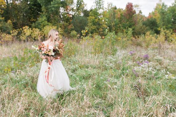 Romantic caramel color wedding inspiration