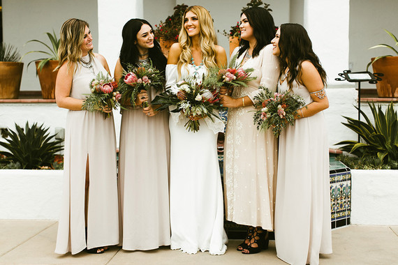 Neutral bridesmaids