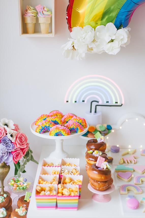 Rainbow girl's party