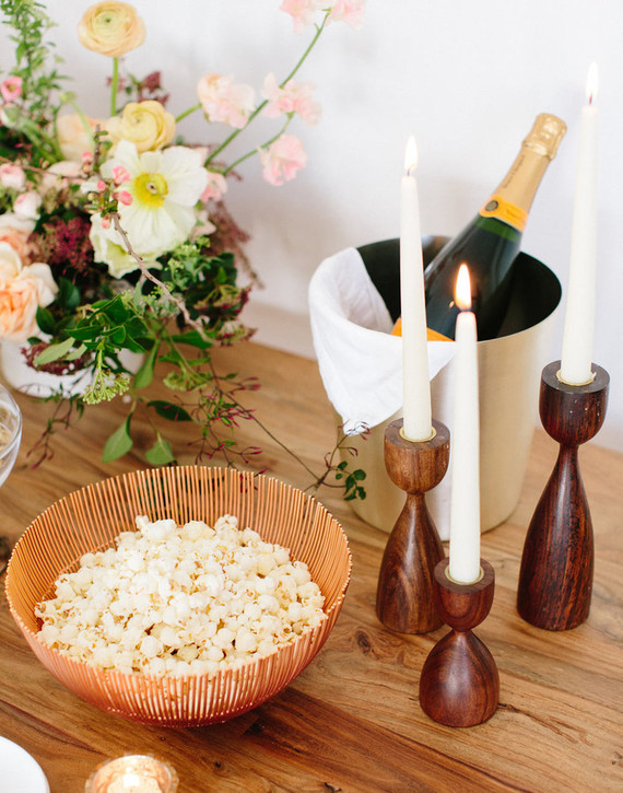 Pre-wedding bridal party snack bar