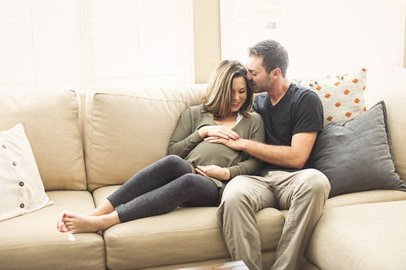 cozy maternity photos