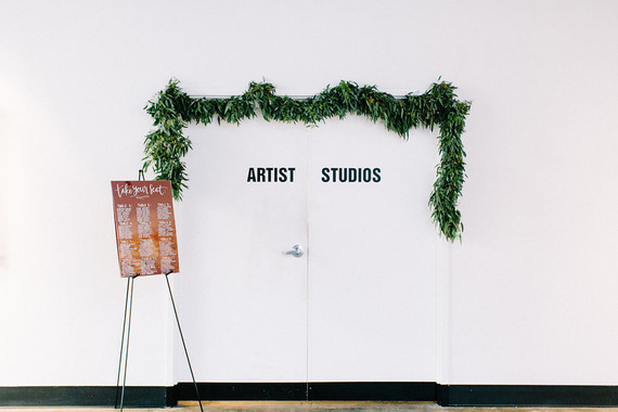 Modern wedding at an Art Gallery