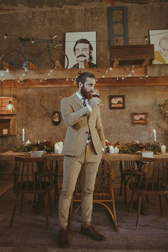 Rustic groom