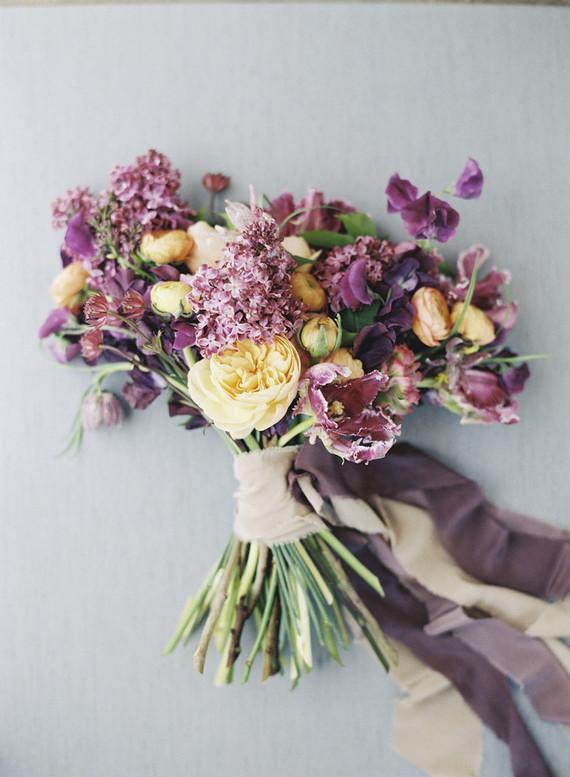 Purple bridal bouquet