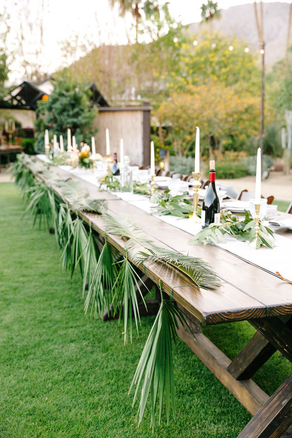 Palm Springs tablescape